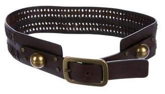 Diane von Furstenberg Leather Woven Belt
