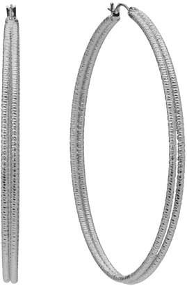 JLO by Jennifer Lopez Textured Oval Hoop Earrings