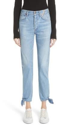 Atelier Jean Hunter Ankle Tie Crop Jeans