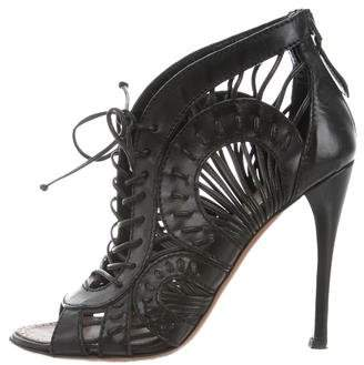 Alaia Laser Cut Leather Booties