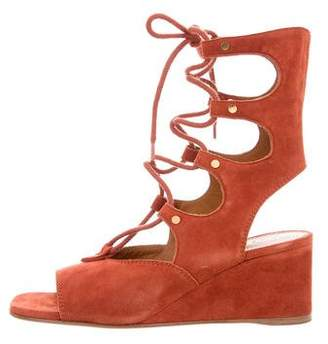 Chloé Suede Lace-Up Wedges w/ Tags