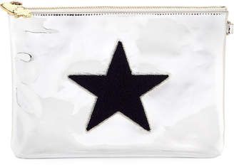 Stoney Clover Lane Small Metallic Star Flat Pouch