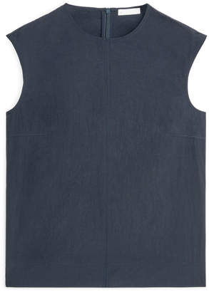 Arket Paper Nylon Sleeveless Top