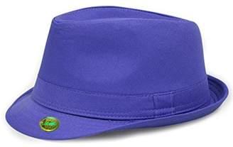 29ff8be4c61 at Amazon Canada · LOCOMO Hats Locomo Plain Color Fedora Short Upturn Brim  Hat FFH312PUR