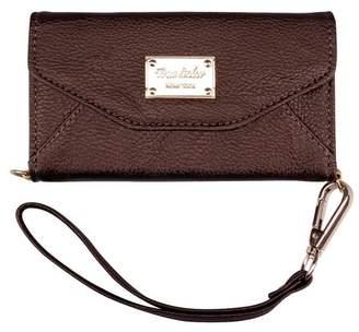 TrueColor iPhone 6 6s Wallet Case, True Color Premium Leatherette Wristlet Clutch Folio Tri-Fold Wallet Purse Case Cover - Bronze