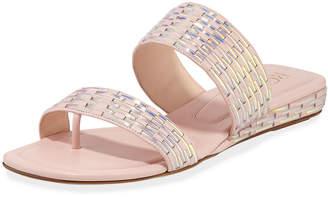Rodo Metallic Woven Leather Sandals