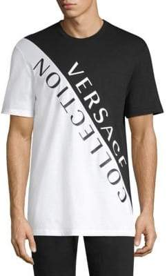 Versace Colorblock Graphic Tee