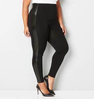 Avenue Faux Leather Trim Legging