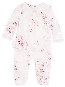 Miniclasix Miniclasix Baby Girl's Cotton Footed Coverall