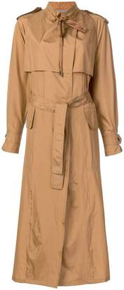 Bottega Veneta silk trench coat