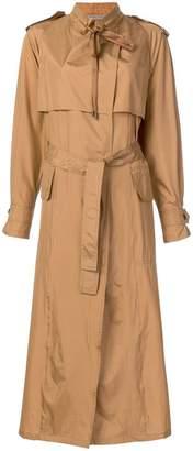 Bottega Veneta silk trench coat