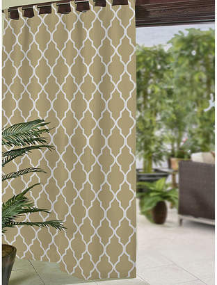 Elrene Corado Ogee Tab-Top Indoor/Outdoor Curtain Panel