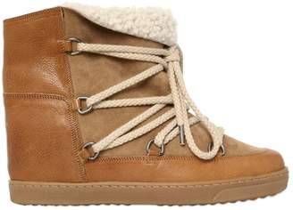 Isabel Marant 70mm Nowles Shearling Wedged