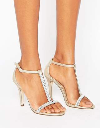 Call it Spring Call It Spring Jerirwen Embellished T Bar Heeled Sandals $72 thestylecure.com