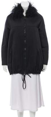 Moncler Gamme Rouge Thales Shearling-Trimmed Jacket