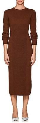 Victoria Beckham Women's Multi-Knit Wool Fitted Dress - Chestnut