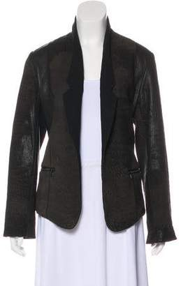 Alexander Wang Leather Open Front Jacket