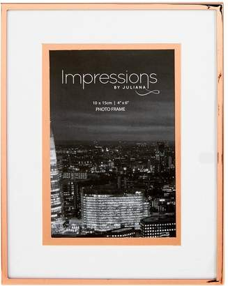 Very Steel Copper Photo Frame with Foil Border