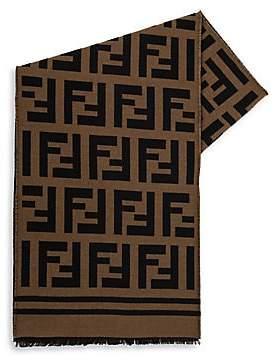 Fendi Men's Logo Print Scarf
