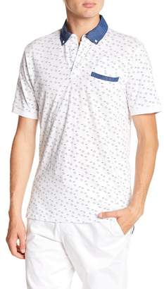 Report Collection Patterned Short Sleeve Polo