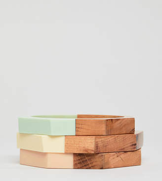 Glamorous colored wooden Bangles