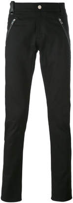 Alexander McQueen leather patch pocket jeans