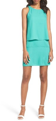 Women's Charles Henry Layered Shift Dress $88 thestylecure.com