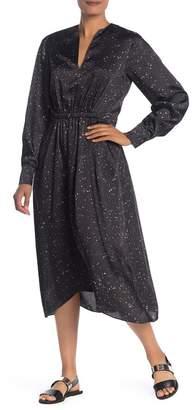 Vince Satin Constellation Print Midi Dress