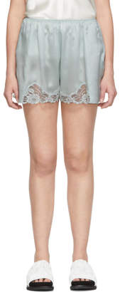 Stella McCartney Green Silk Lace Shorts