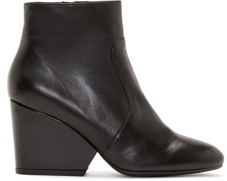 Robert Clergerie Black Leather Toots Boots $695 thestylecure.com