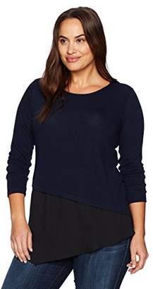 Karen Kane Women's Plus Size Combo Hem Sweater
