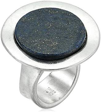 Robert Lee Morris Color Wheel Silver with Lapis Stone Ring