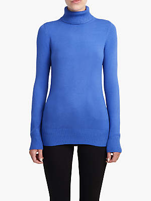 Rib Hem Roll Neck Jumper