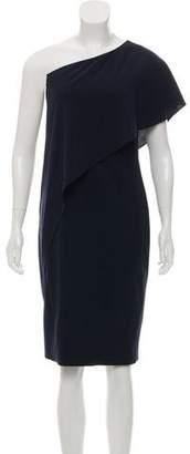Ralph Lauren One Shoulder Midi Dress