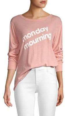 Wildfox Couture Monday Mourning Long Sleeve Tee