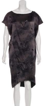 Zero Maria Cornejo Silk-Blend Embellished Dress