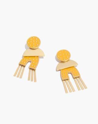 Madewell Mixed-Metal Enamel Earrings