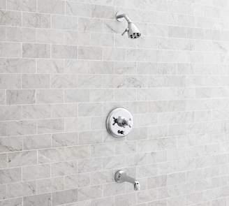 Pottery Barn Victoria Pressure Balance Cross-Handle Bathtub & Shower Faucet Set