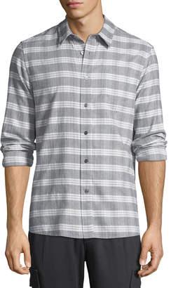Slate & Stone Men's Straight-Hem Plaid Button-Down Shirt