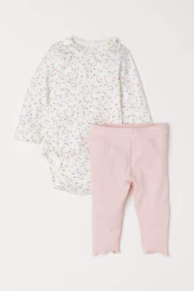 H&M Bodysuit and Leggings - White