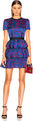 Self-Portrait Self Portrait Tiered Printed Mini Dress