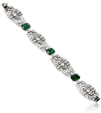 "Ben-Amun Jewelry ""Emerald Deco"" Crystal Bracelet"