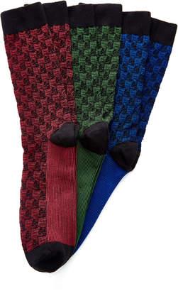 Ace & Everett Set-Of-Three Supima Cotton Socks