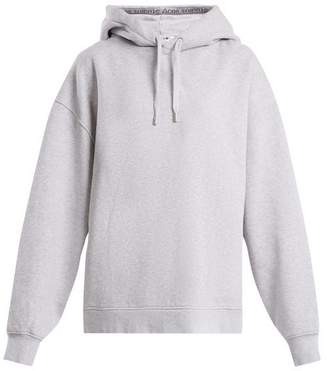Acne Studios Yala Cotton Jersey Hooded Sweatshirt - Womens - Grey