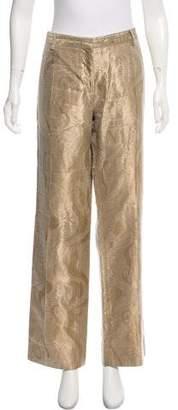 Alberta Ferretti Mid-Rise Wide-Leg Pants