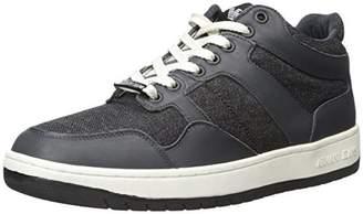 Armani Jeans Men's Denim and Leather Fashion Sneaker