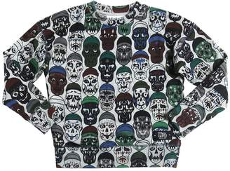 Molo Skulls Print Cotton Sweatshirt