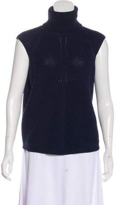 Iris von Arnim Sleeveless Knit Turtleneck