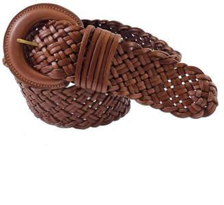 Fashion Focus Accessories Wide Braided Leather Belt