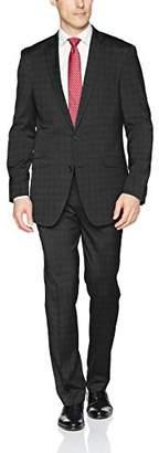 Kenneth Cole Reaction Men's Stretch Slim Fit Finished Bottom Suit